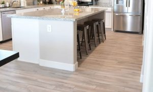 Light Colored Wooden Plank Floors