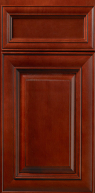 Hudson Crimson with Chocolate Glaze Cabinet